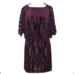 Tahari ASL Womens Burnout Cocktail Dress 10 New